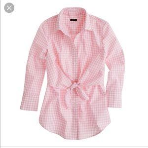 Altuzarra for J. Crew pink check shirt